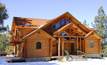 Log Cabin Home in Mountains - David Mize Long & Foster Real Estate Broker
