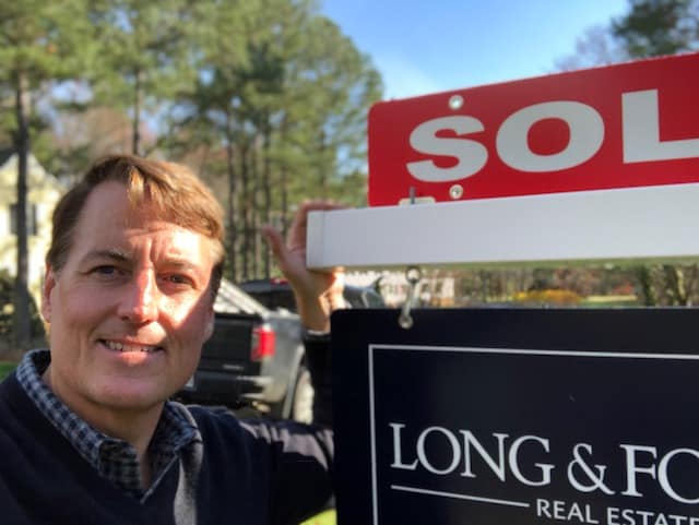 David Mize with Sold Sign