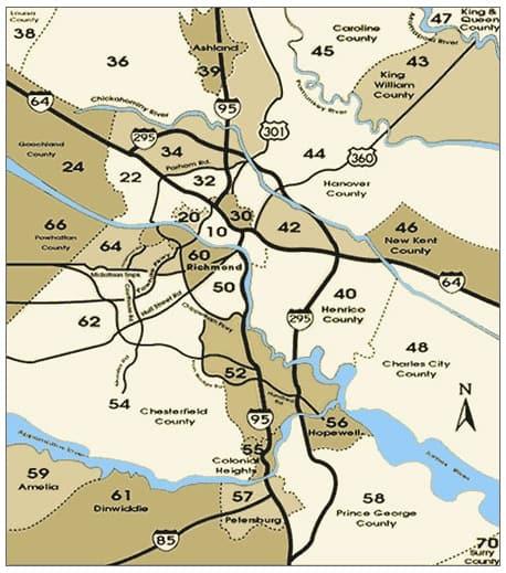 Richmond VA Real Estate Zone Map
